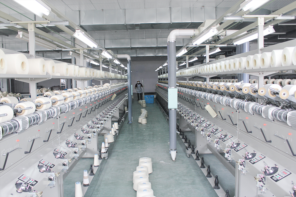 Bobbin-winding production line